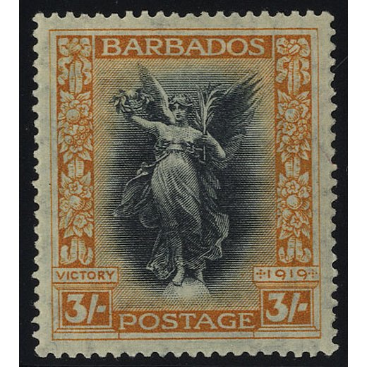 1916, 3 Sh orange/schwarz, Mi. 120 SG 211