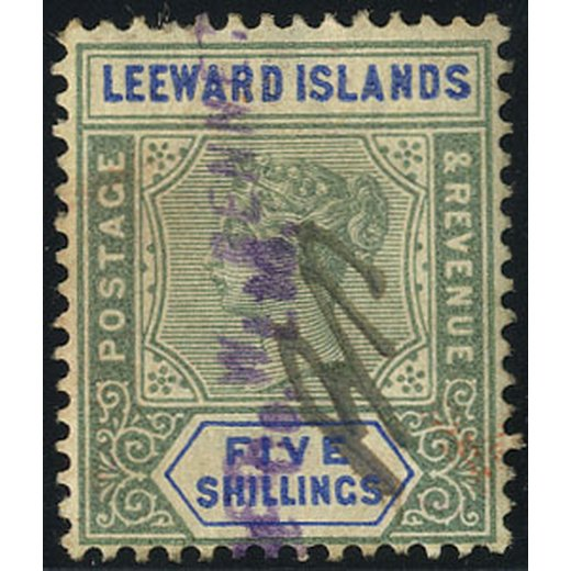 1890, 10 s. green and blue (Mi. + SG 8 / 140,-)